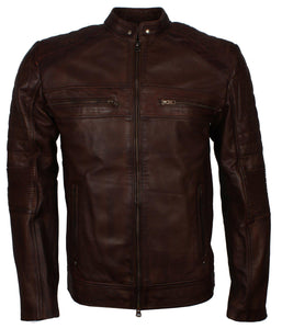 Dark Brown 2020 Motocross Leather Jacket
