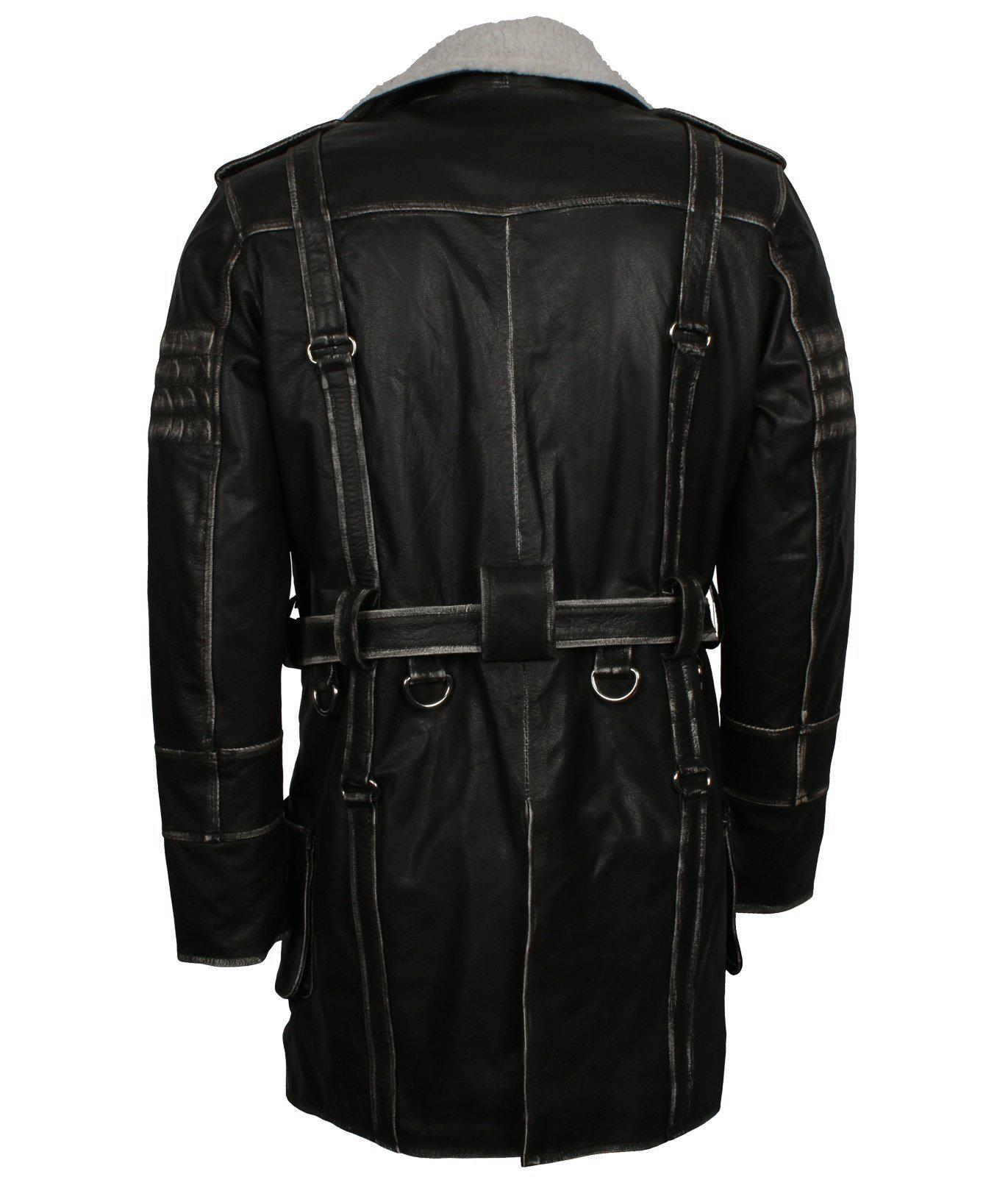 Fallout Game Genuine Leather Battle Coat