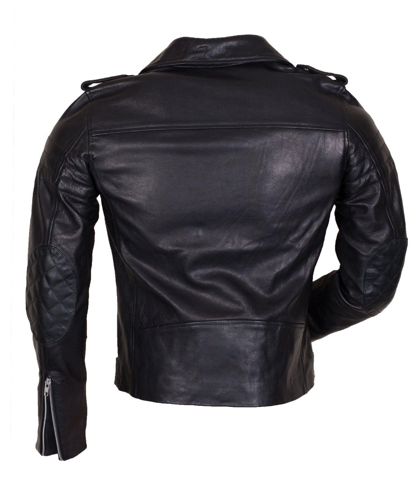 Marlon Brando Leather Jacket in Black