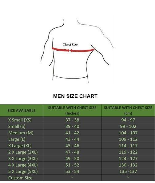 Alex Gear Size Chart
