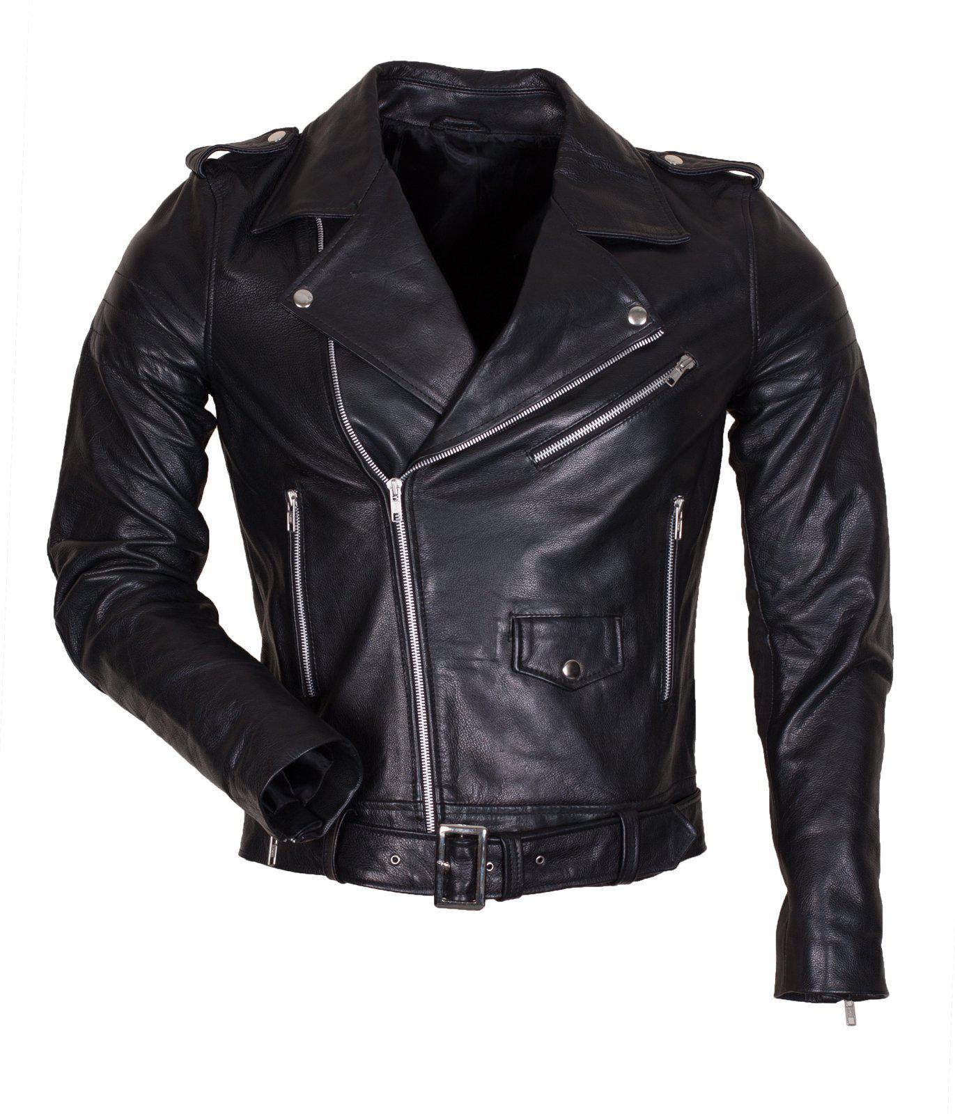 Black Marlon Brando Leather Jacket