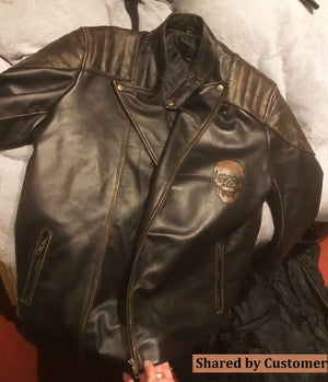 Skull Leather Jacket for Bikers Review