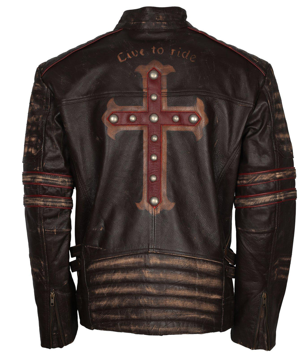 Men's Biker Gothic Leather Jacket