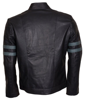 Striped Vintage Leather Motorcycle Jackets