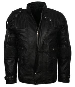 Guardians of the Galaxy Leather Jacket Black