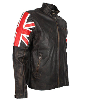 Vintage British Union Jack Jacket for Biker