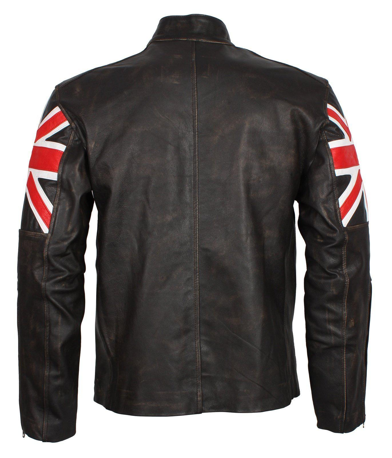 Vintage British Flag Leather Jacket