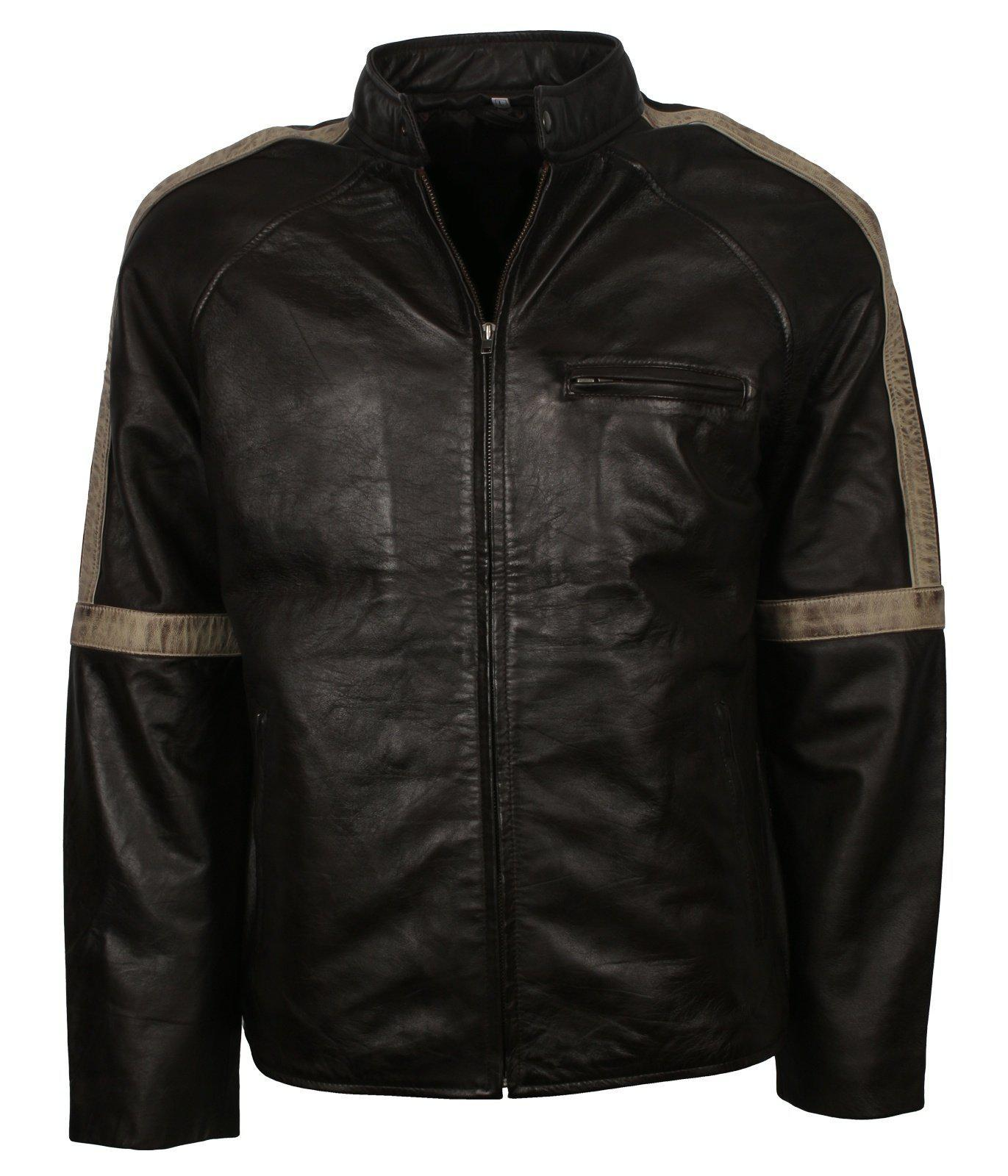 Black Classic Motorcycle Leather Jacket