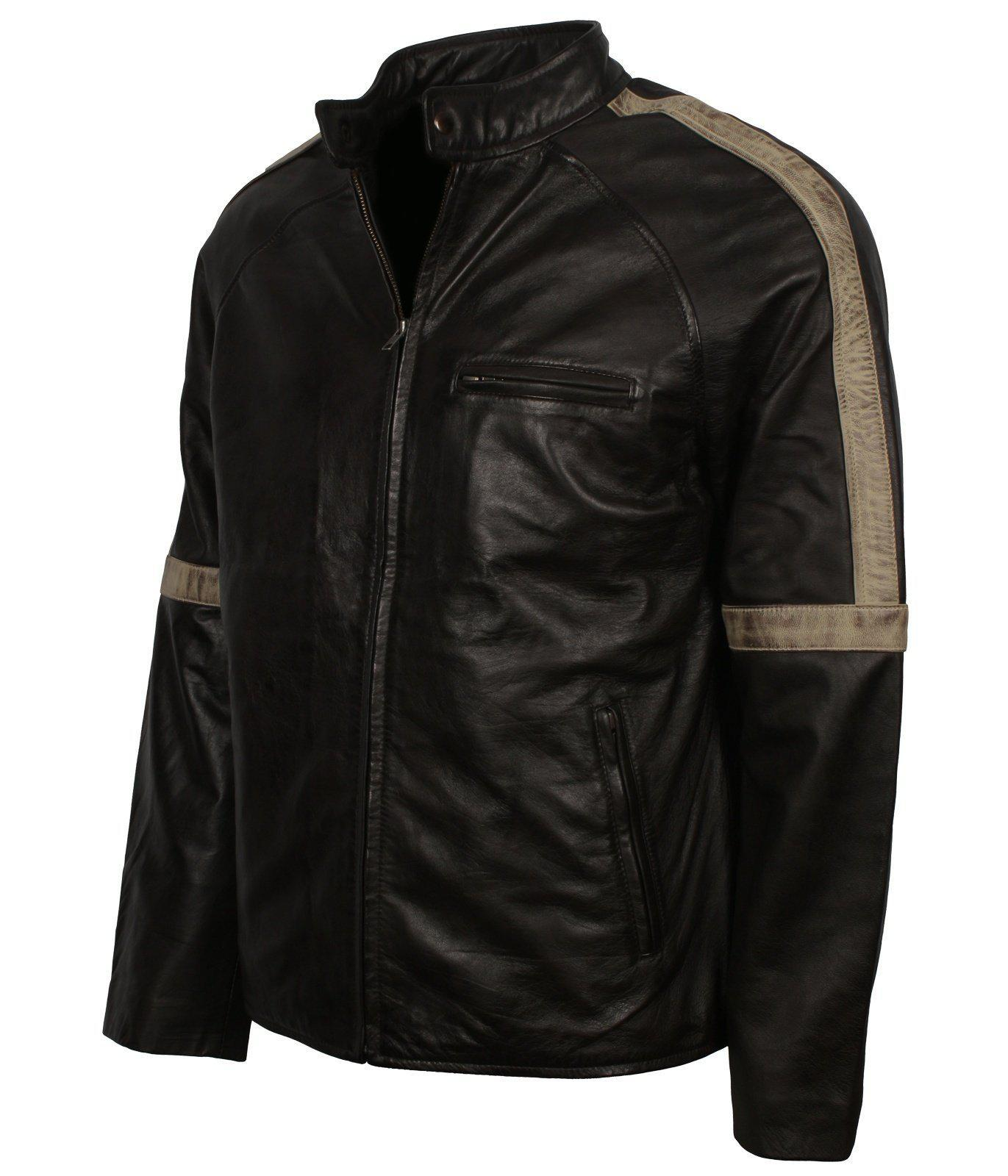Mens Black Vintage Leather Jacket