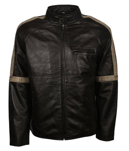 Vintage Style Black Leather Jacket