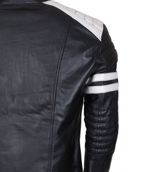 Riders and Bikers leather jacket black and white