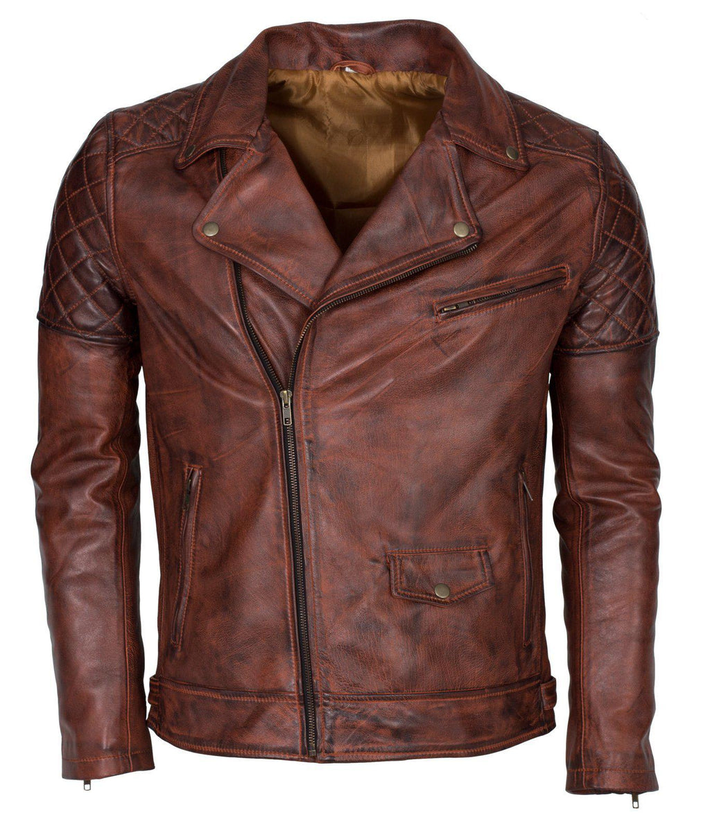 Men's Biker Vintage Leather Jacket