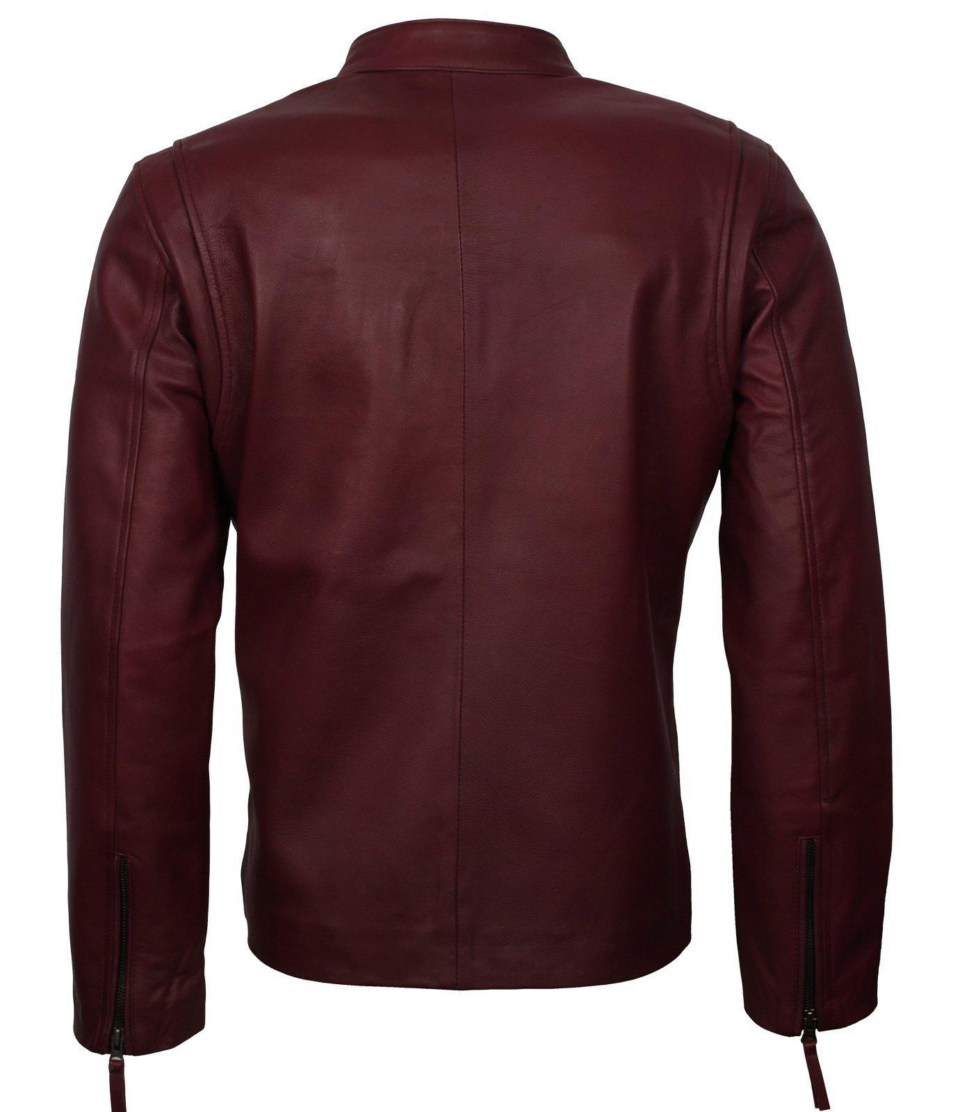 leather jacket men motorcycle