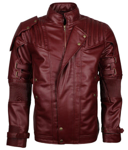 Star Lord Maroon Leather Jacket
