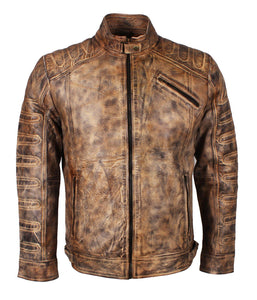 Mens Vintage Brown Leather Jacket