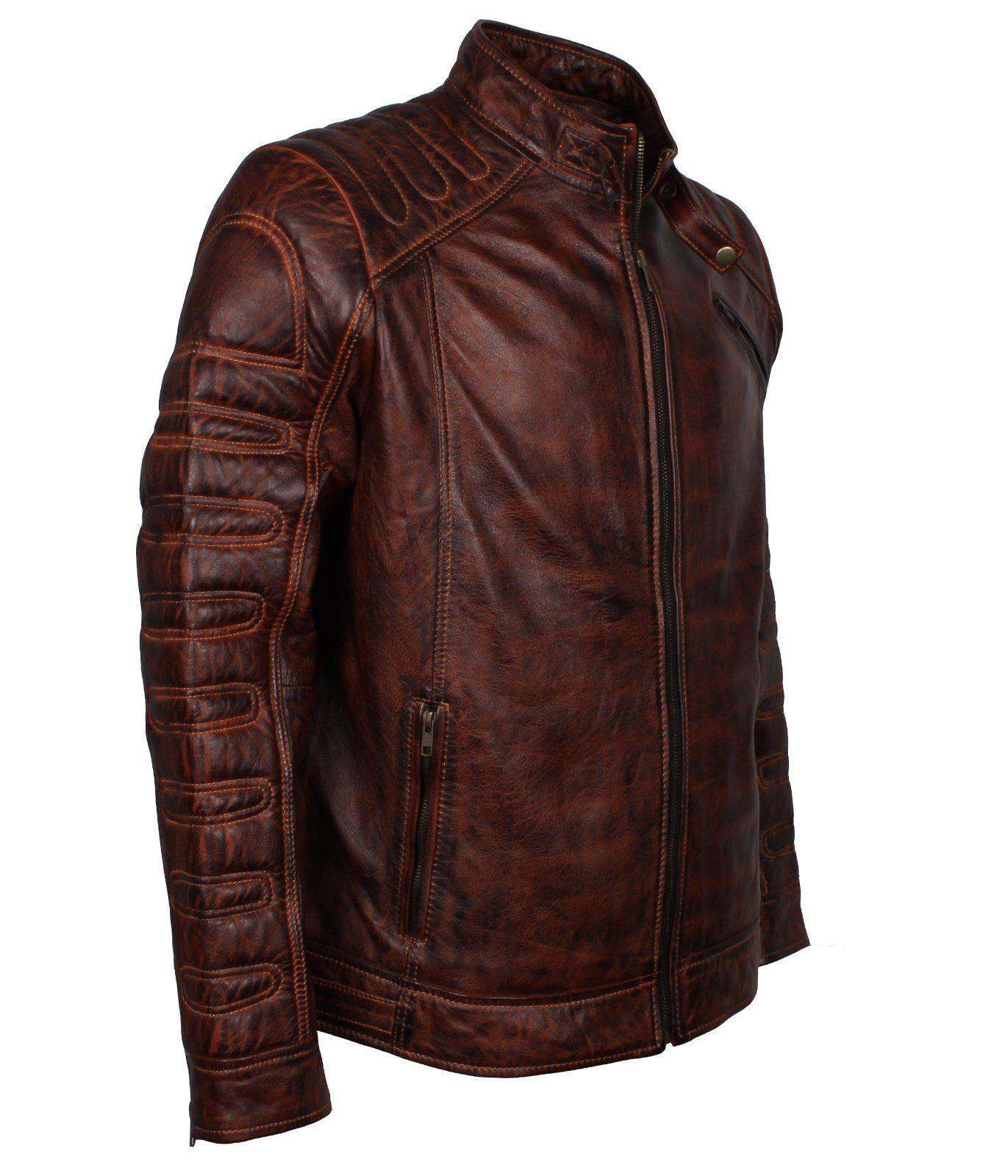 Dark Brown Motorcycle Leather Jackets