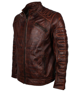 Dark Brown Motocross Racing Leather Jacket