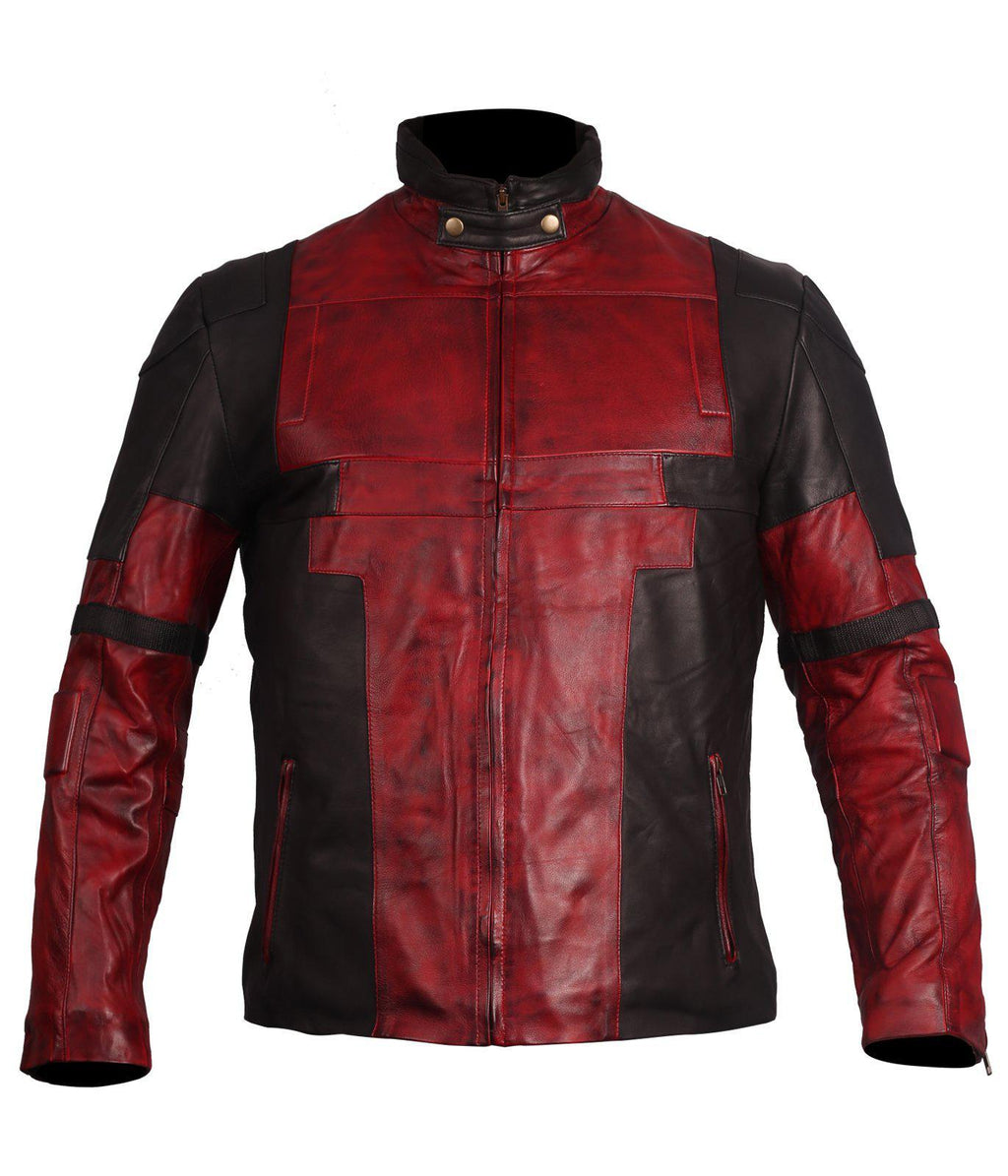 Dead Pool Cosplay Leather Jacket