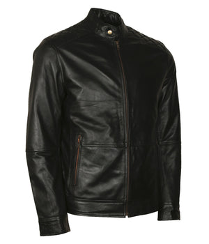Skull Mens Biker Leather Jacket