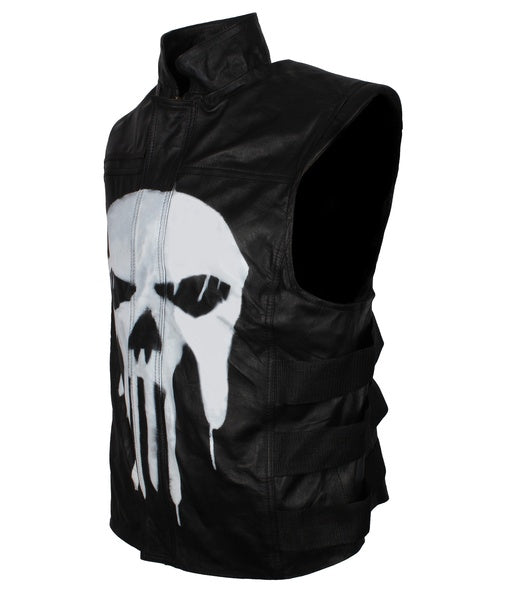 The Punisher Vest with Punisher Symbol