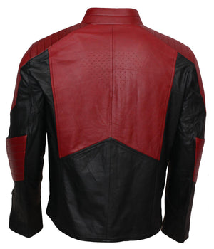 Superman Red and Black Samllville Cosplay Leather Jacket