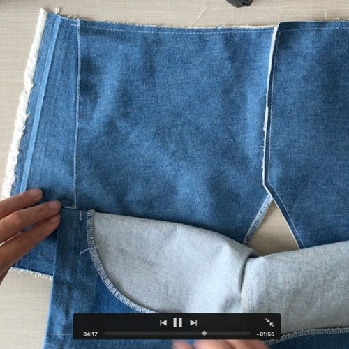 Sewing tutorial: French Sailor trousers - Bib front opening (video)