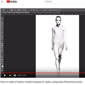 How to make your own Fashion model template - video tutorial