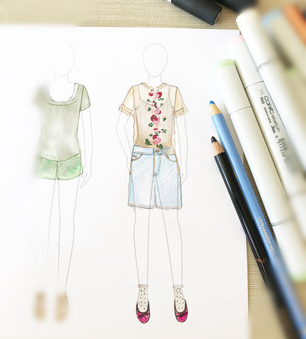 Generic Fashion sketches for generic Fashion