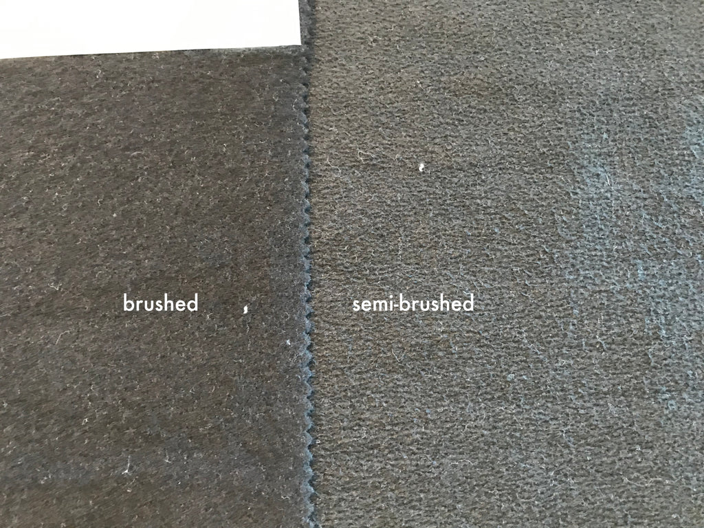 Luxury sweatshirt fabric - brushed and semi-brushed