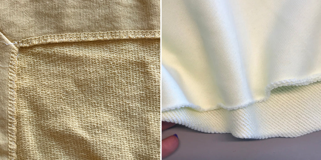 Luxury sweatshirt fabric - loopback types