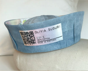 Indigo wash Sailor hat