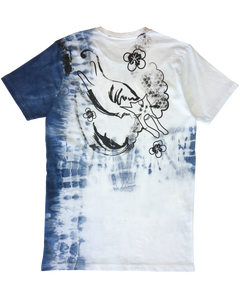 'Mean kitty' t-shirt - indigo edition 01