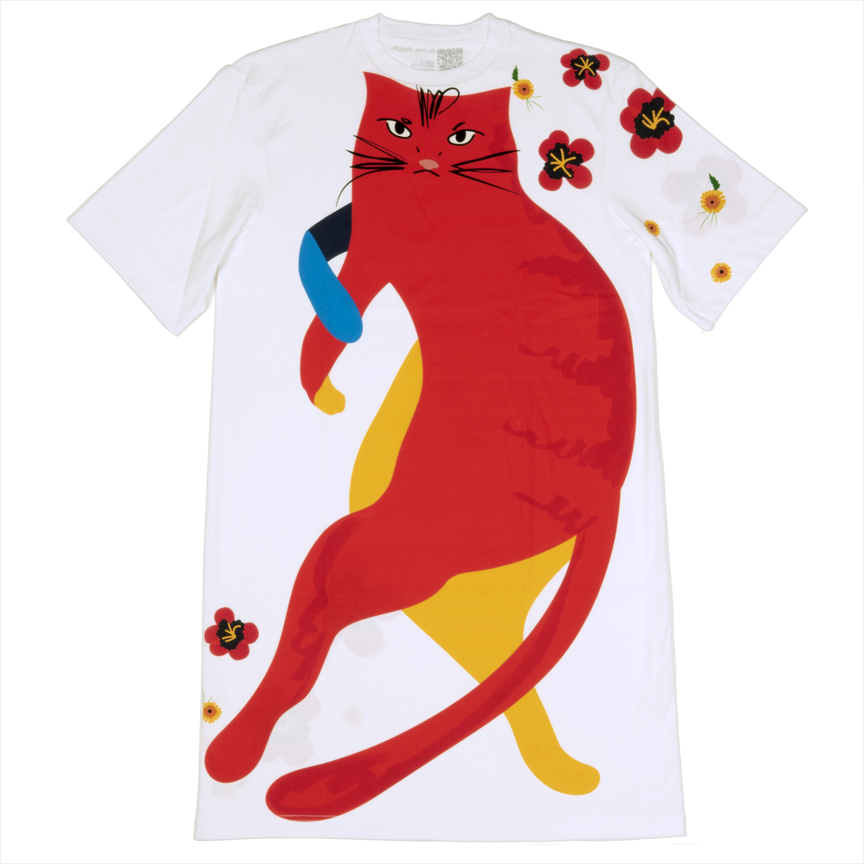 Mean red kitty t-shirt dress