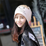 Unisex Cotton Beanies Hat Fashion Eyeglasses Printed Baotou Cap Sleeve Head Cap