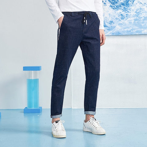 Pioneer camp summer jeans men famous brand solid blue denim trousers for men top quality denim pants male ANZ803106