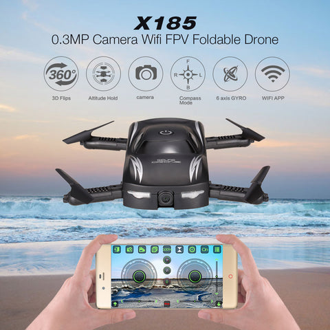 X185 Wifi FPV Selfie Drone Foldable RC Quadcopter