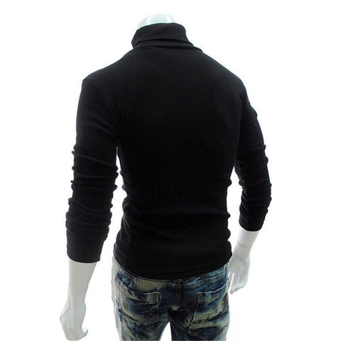 Men Long Sleeved Bottomed Sweater High Collar T shirt