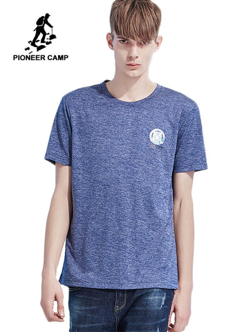 Pioneer camp new short sleeve t shirt men quick drying brand clothing tiger print cool quality male tshirt white tees ADT801077
