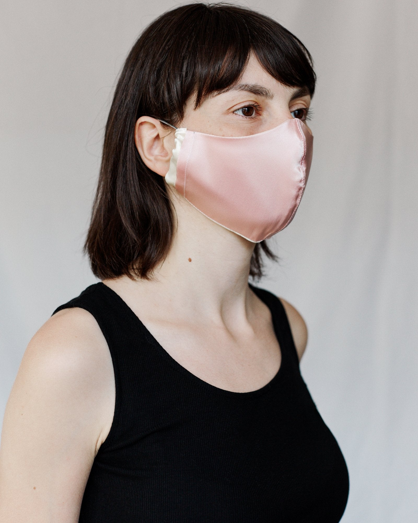 The Majestic Mask Silk Ivory/Ice Pink
