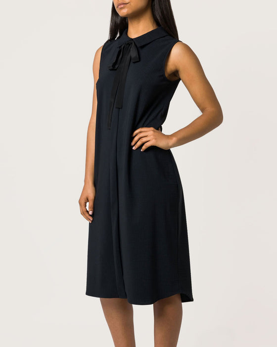 Back to Base Dress Black Stripe ECO-PRINT