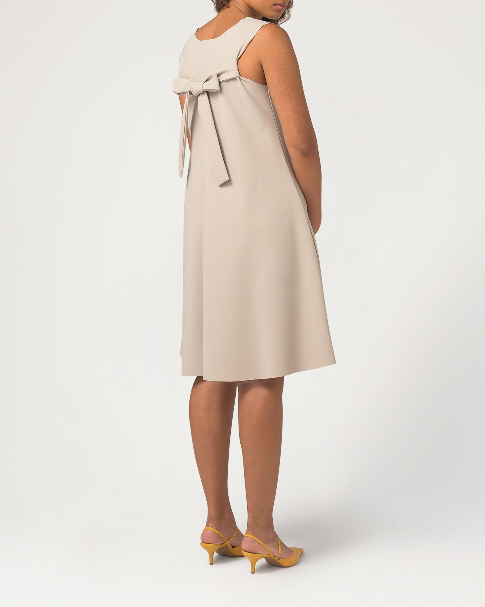 Trapeze-y Dress Almond