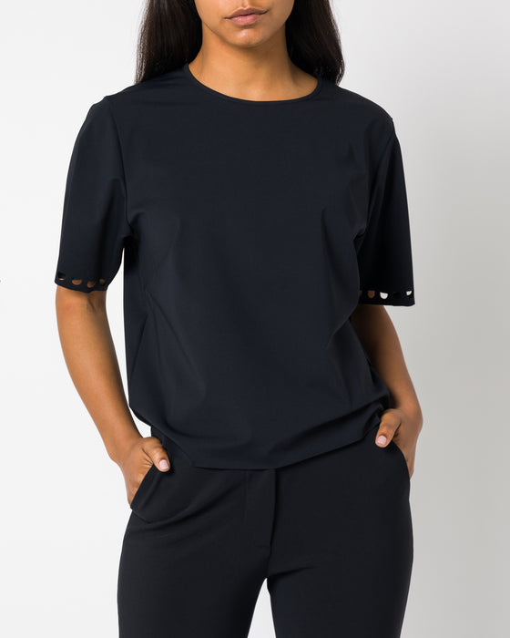 Revive Oversized Box Top Black