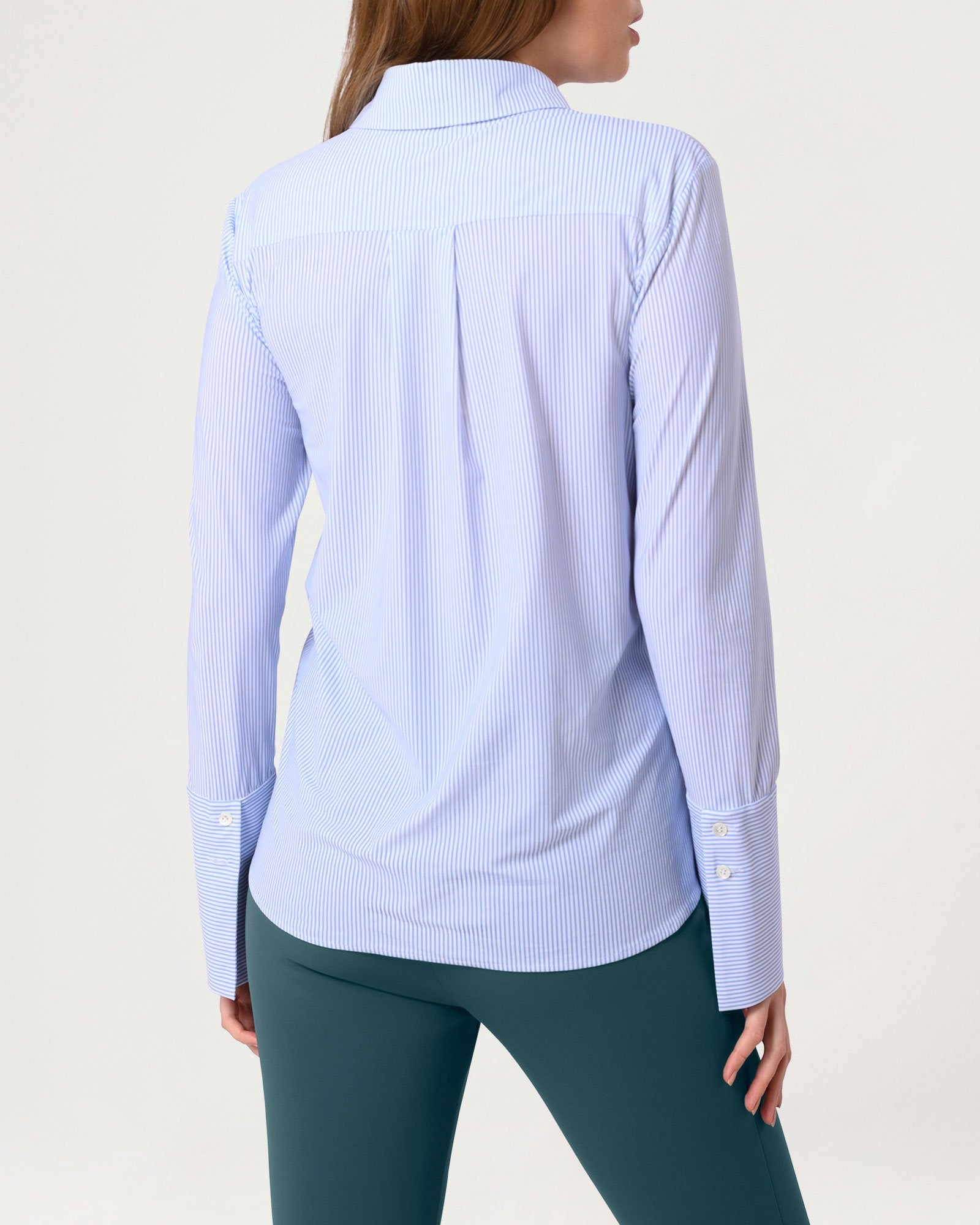Class Act Blouse Technical Sky Stripe