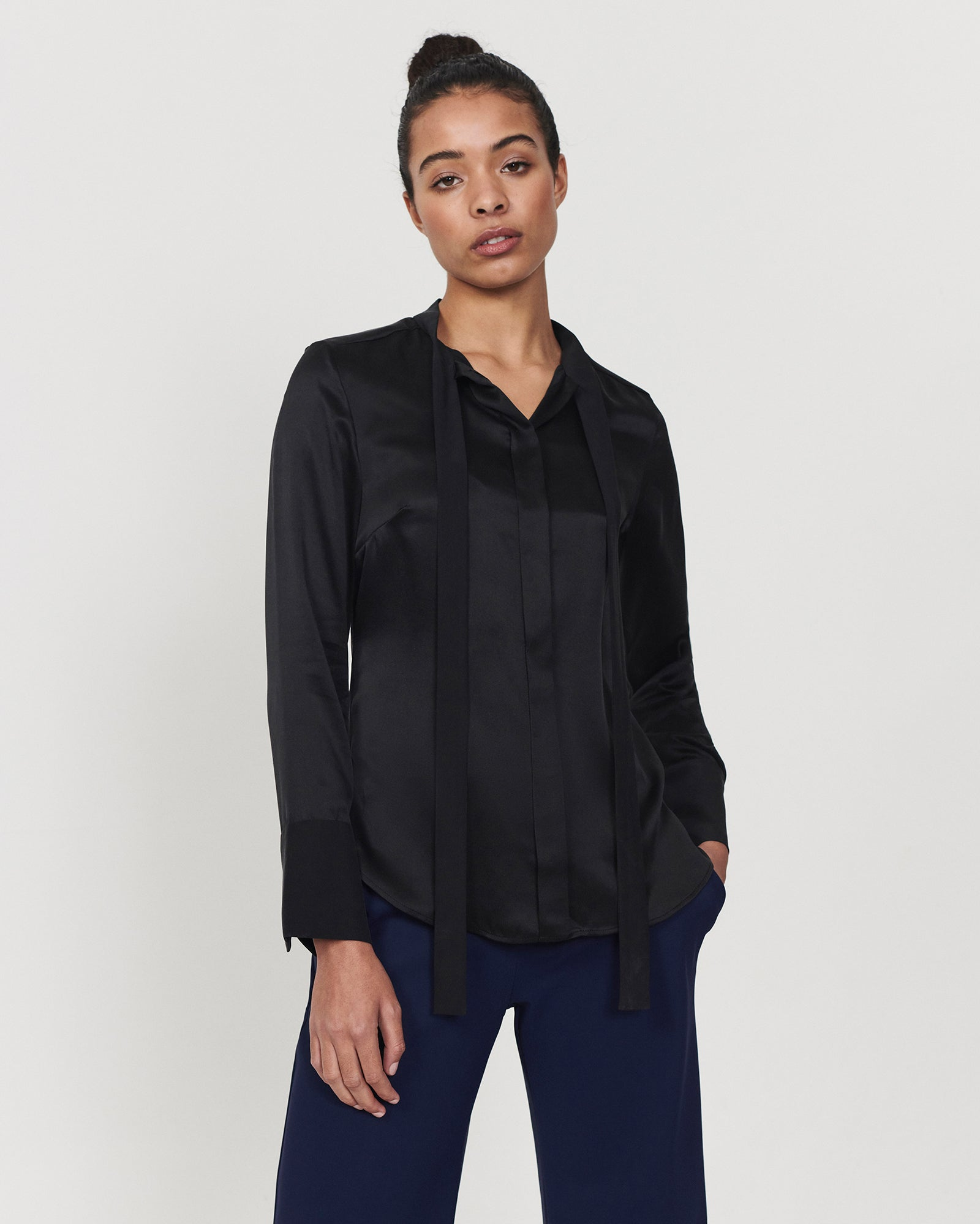 Shimmy Blouse Black