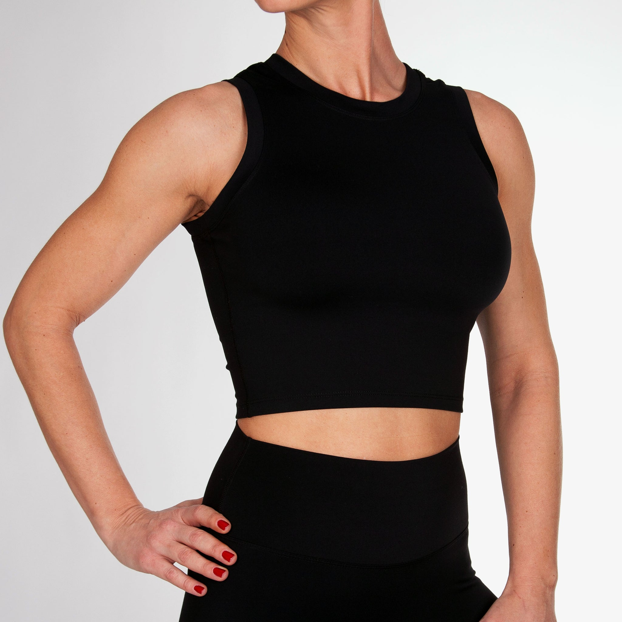 Simple Crop Tank Top - KEJO Fitness
