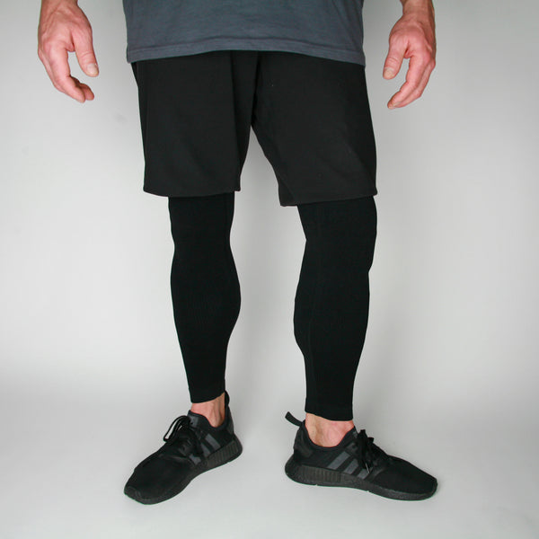 Man Seamlessly Black Baselayers - KEJO Fitness