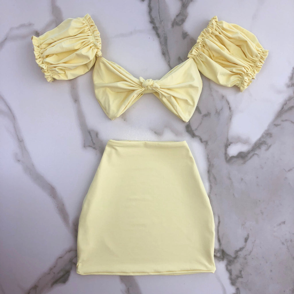 LEMON PUFF SET