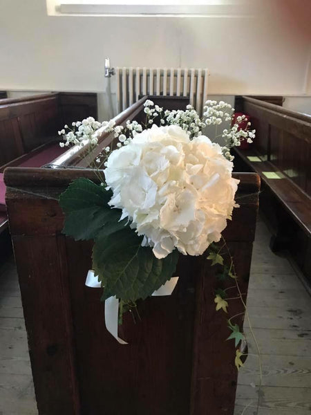 Hydrangea Pew End Display