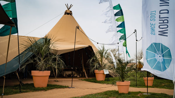 Tropical tent entrance