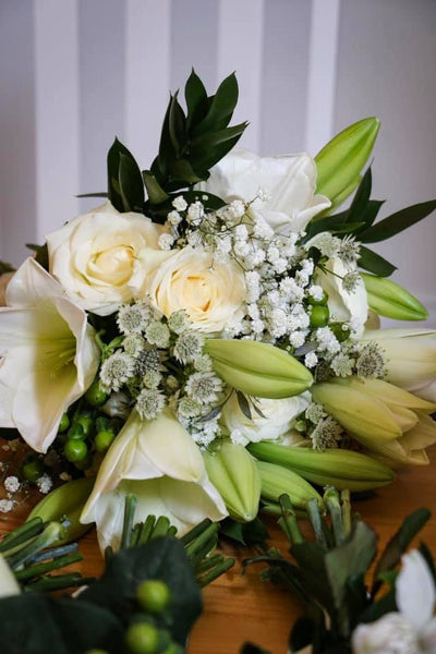 Greens and Creams Wedding Bouquets